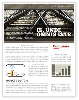 Cars/Transportation: Railways Newsletter Template #07027