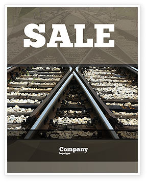 Railways Sale Poster Template, 07027, Cars/Transportation — PoweredTemplate.com