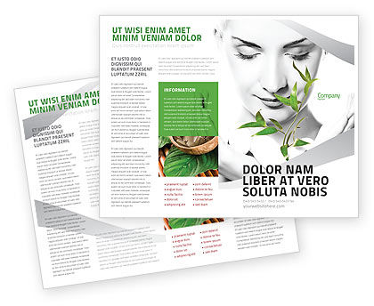 Bio Cosmetics Brochure Template, 07032, Nature & Environment — PoweredTemplate.com