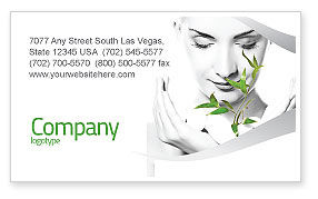 Nature & Environment: Bio Cosmetics Business Card Template #07032