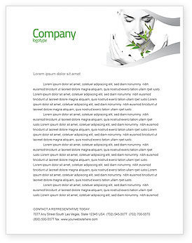 Marvelous Bio Cosmetics Letterhead Template, 07032, Nature U0026 Environment U2014  PoweredTemplate.com Regard To Microsoft Word Biography Template