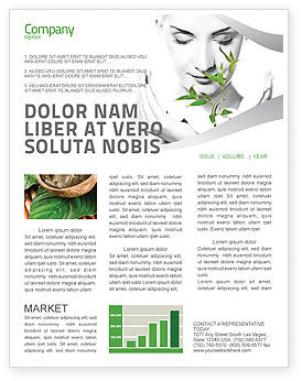 Bio Cosmetics Newsletter Template, 07032, Nature & Environment — PoweredTemplate.com