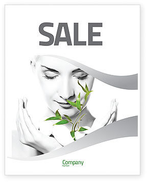 Bio Cosmetics Sale Poster Template, 07032, Nature & Environment — PoweredTemplate.com