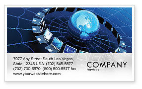 Technology, Science & Computers: Telecommunication Progress Business Card Template #07033