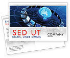 Technology, Science & Computers: Telecommunication Progress Postcard Template #07033