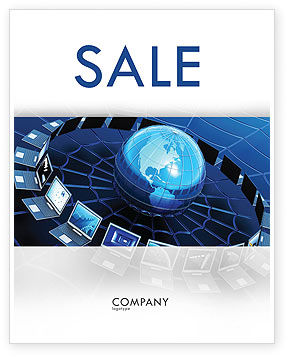 Telecommunication Progress Sale Poster Template, 07033, Technology, Science & Computers — PoweredTemplate.com