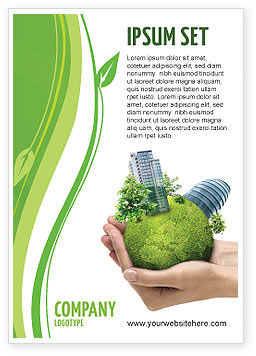 Green Habitat Ad Template, 07037, Nature & Environment — PoweredTemplate.com