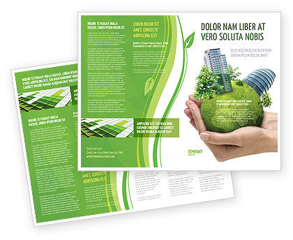 Green Habitat Brochure Template Design And Layout Download Now