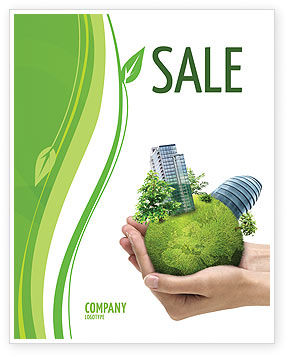 Green Habitat Sale Poster Template, 07037, Nature & Environment — PoweredTemplate.com
