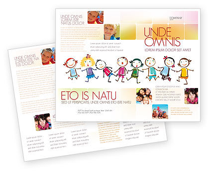 Funny Kids Brochure Template Design And Layout, Download Now