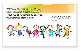 Funny Kids Business Card Template, 07045, Education & Training — PoweredTemplate.com