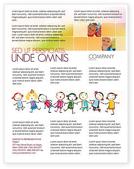 Funny Kids Flyer Template, 07045, Education & Training — PoweredTemplate.com