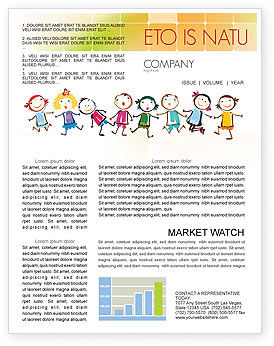 Education & Training: Funny Kids Newsletter Template #07045
