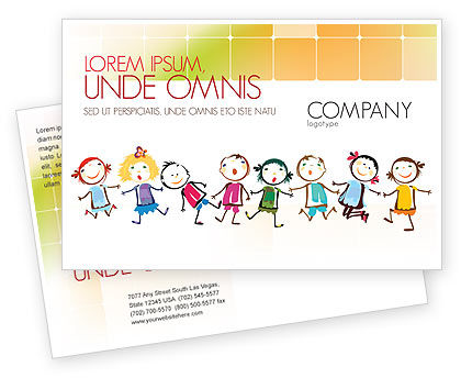Funny Kids Postcard Template