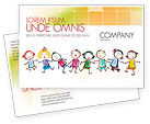 Education & Training: Funny Kids Postcard Template #07045