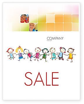Funny Kids Sale Poster Template, 07045, Education & Training — PoweredTemplate.com