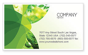 Abstract/Textures: Green Theme Business Card Template #07047