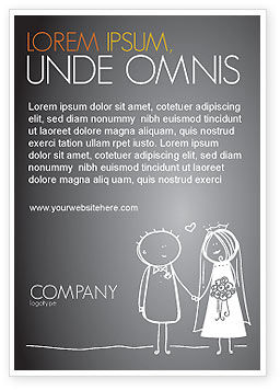 Married Couple Ad Template, 07048, Holiday/Special Occasion — PoweredTemplate.com