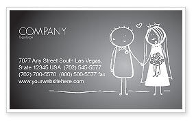 Holiday/Special Occasion: Married Couple Business Card Template #07048