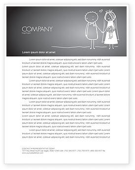 Holiday/Special Occasion: Married Couple Letterhead Template #07048