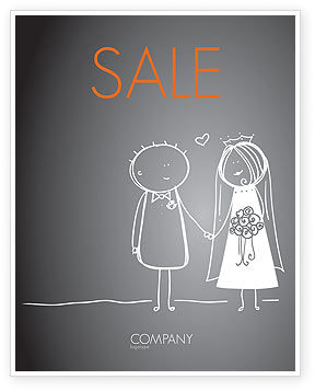 Holiday/Special Occasion: Married Couple Sale Poster Template #07048
