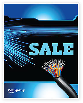 Technology, Science & Computers: Blue Optic Fibers Sale Poster Template #07052