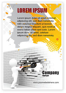 Business Concepts: Breken Van De Muur Advertentie Template #07058