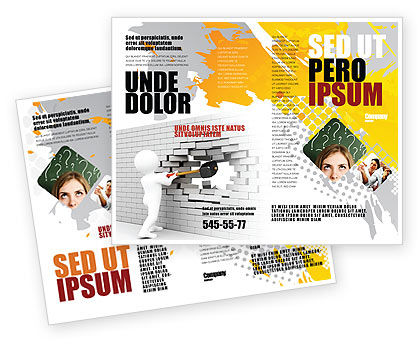 Business Concepts: Modello Brochure - Rompere il muro #07058