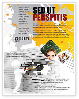 Business Concepts: Breaking the Wall Flyer Template #07058