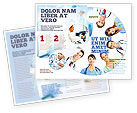 People: Medical Personnel Circle Brochure Template #07059