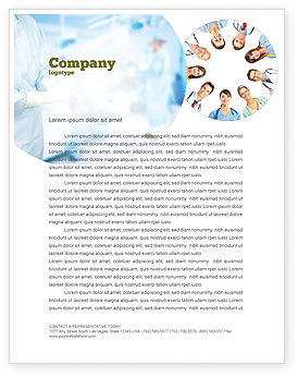 People: Medical Personnel Circle Letterhead Template #07059