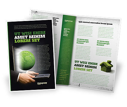 Green Solutions Brochure Template, 07063, Global — PoweredTemplate.com