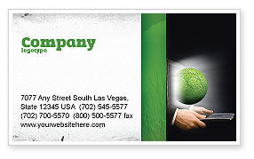Global: Green Solutions Business Card Template #07063