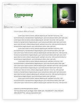 Global: Grüne lösungen Briefkopf Vorlage #07063