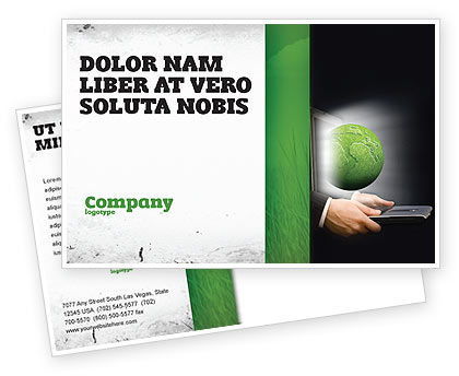 Global: Green Solutions Postcard Template #07063