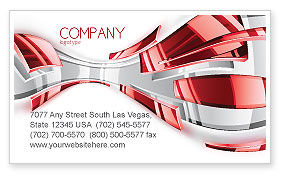 Abstract Shiny Business Card Template, 07066, Abstract/Textures — PoweredTemplate.com