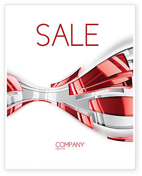 Abstract Shiny Sale Poster Template, 07066, Abstract/Textures — PoweredTemplate.com