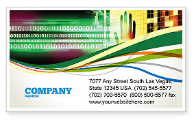 Technology, Science & Computers: Computer Identification Business Card Template #07067