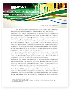 Computer Identification Letterhead Template, 07067, Technology, Science & Computers — PoweredTemplate.com