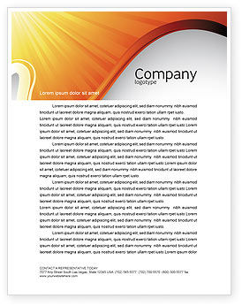 Sun Light Theme Letterhead Template, 07077, Abstract/Textures — PoweredTemplate.com