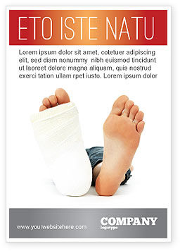 Foot Plaster Ad Template, 07080, Medical — PoweredTemplate.com