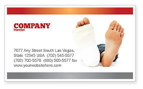 Foot Plaster Business Card Template