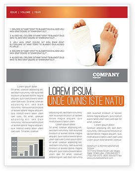Medical: Foot Plaster Newsletter Template #07080