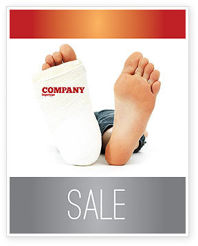 Foot Plaster Sale Poster Template, 07080, Medical — PoweredTemplate.com