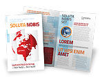 Global: Fragmented World Map Brochure Template #07090