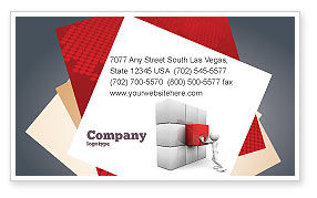 Fitting the Part Business Card Template, 07093, Consulting — PoweredTemplate.com