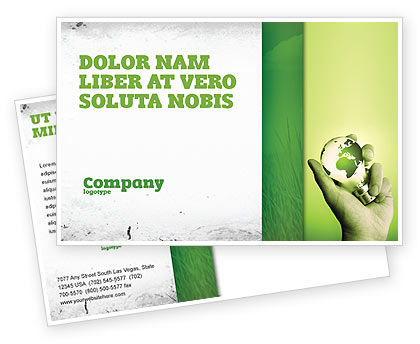 Olive Lamp Postcard Template, 07113, Careers/Industry — PoweredTemplate.com