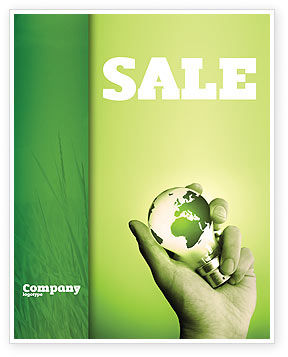 Olive Lamp Sale Poster Template