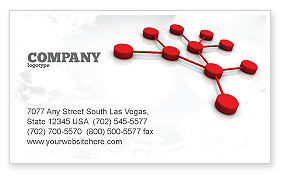 Technology, Science & Computers: Network Model Business Card Template #07124