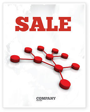 Technology, Science & Computers: Network Model Sale Poster Template #07124